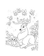 Bambi da colorare 64