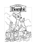 Bambi da colorare 80