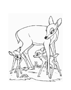 Bambi da colorare 82