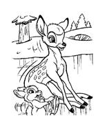 Bambi da colorare 94