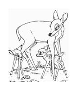Bambi da colorare 98