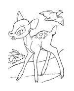 Bambi da colorare 103