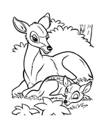 Bambi da colorare 112