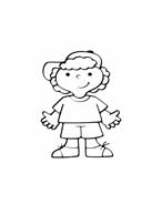 Bambino da colorare 9