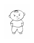 Bambino da colorare 10