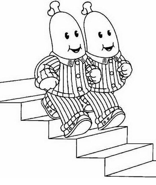 Bananas pyjamas da colorare