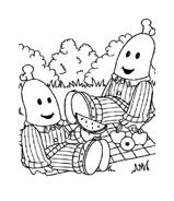 Bananas pyjamas da colorare 4
