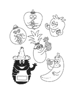 Barbapapà da colorare 87