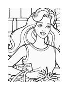 Barbie da colorare 28
