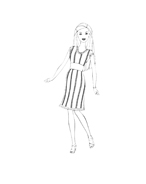 Barbie da colorare 191