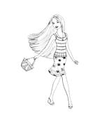 Barbie da colorare 236