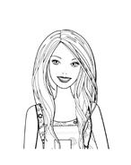 Barbie da colorare 254