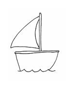 Nave e barca da colorare