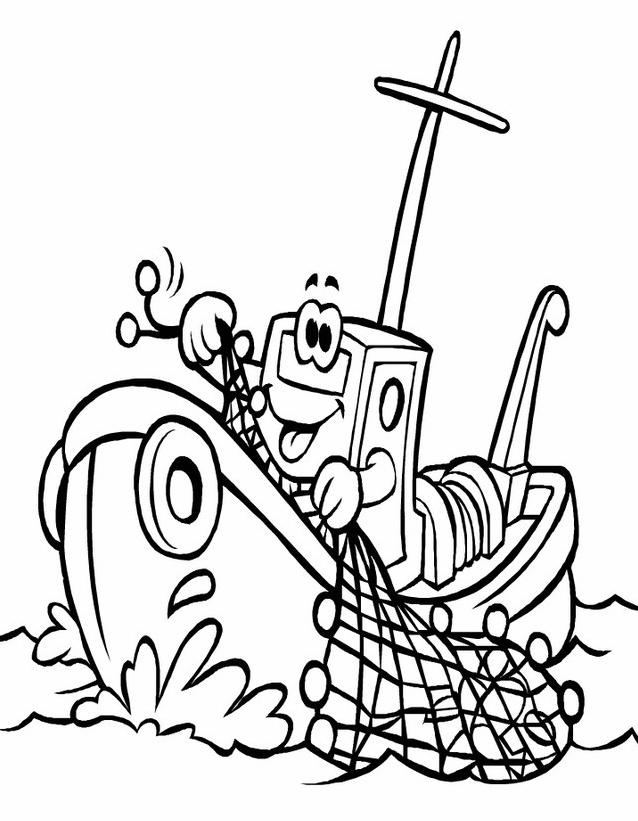 Nave e barca da colorare 3