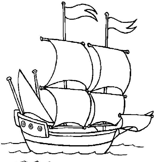 Nave e barca da colorare 8