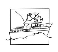 Nave e barca da colorare 11
