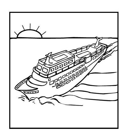 Nave e barca da colorare 13