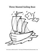 Nave e barca da colorare 17