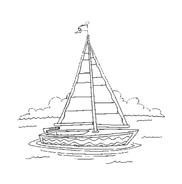 Nave e barca da colorare 19