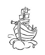 Nave e barca da colorare 22