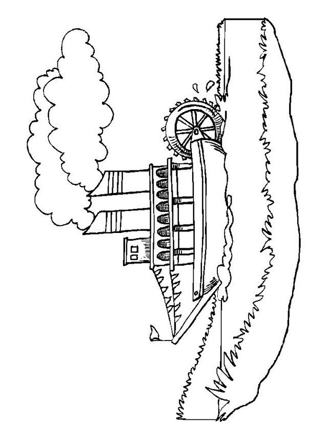 Nave e barca da colorare 23
