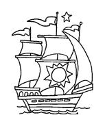 Nave e barca da colorare 27