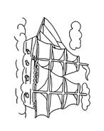 Nave e barca da colorare 35