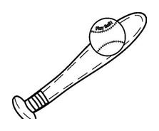 Baseball da colorare 3