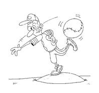 Baseball da colorare 4