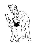 Baseball da colorare 11