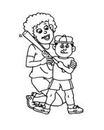 Baseball da colorare 12