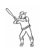 Baseball da colorare 23