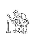 Baseball da colorare 32