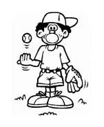 Baseball da colorare 36