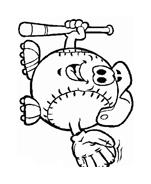 Baseball da colorare 38