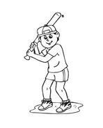 Baseball da colorare 42