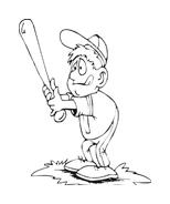 Baseball da colorare 43