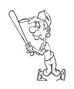Baseball da colorare 44