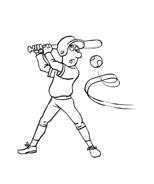 Baseball da colorare 45