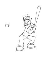 Baseball da colorare 46