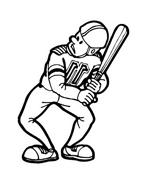 Baseball da colorare 48