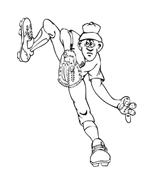 Baseball da colorare 68