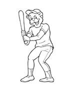 Baseball da colorare 91