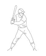 Baseball da colorare 92