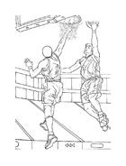 Basketball da colorare