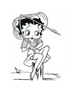 Betty boop da colorare 4