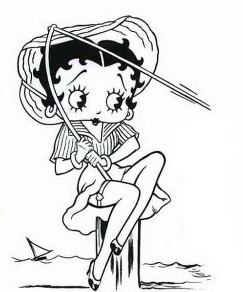 Betty boop da colorare 4