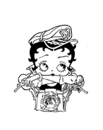 Betty boop da colorare 12