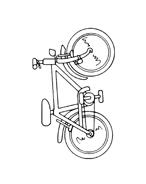 Bicicletta da colorare