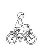Disegno Bicicletta Da Colorare Per Bambini